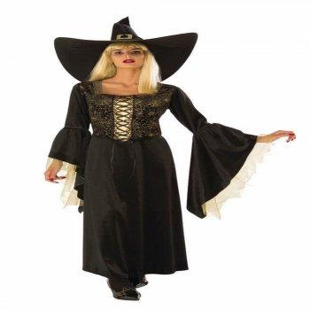 Golden Web Witch Costume Medium-0