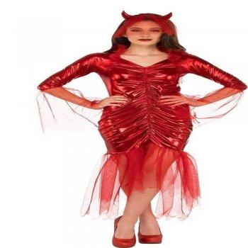 Adult Red Devil Bride Costume-0