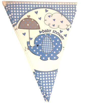 Baby Shower Blue Buntings - 9FT-0