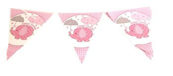 Baby Shower Pink Buntings - 9FT-0