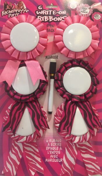 Bachelorette Party Customizable Award Ribbons - 6PC-0