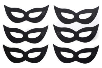 Eye Mask Paper Black - 6PC-0