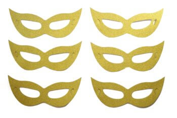 Eye Mask Paper Gold - 6PC-0