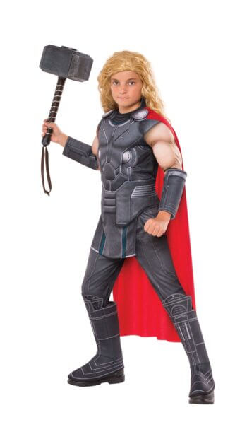 Kids Deluxe Muscle Chest Thor Costume Medium-0