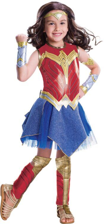 Kids Deluxe Wonder Woman Justice League Costume Small-0