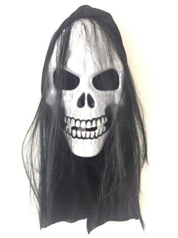 Skull Mask w/Hair-0
