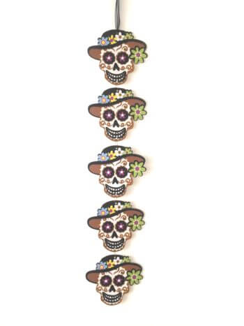 Skull Shimmery String Decoration - 4FT-0