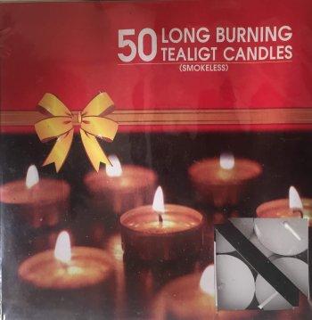 Tea Light Candles White - 50PC-0