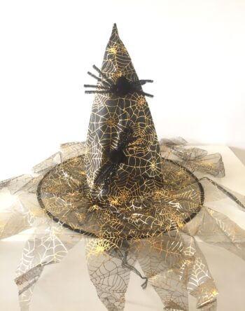 Witch Hat Golden Spider Web Design w/Spider -0