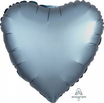 Satin Deluxe Steel Blue Heart S15-0