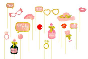 Bride to Be Handheld Photo Props - 25PC-0