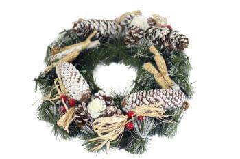 Christmas Wreath w/Pine Cones-0