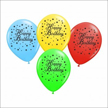 Happy Birthday Printed Balllons - 10PC-0