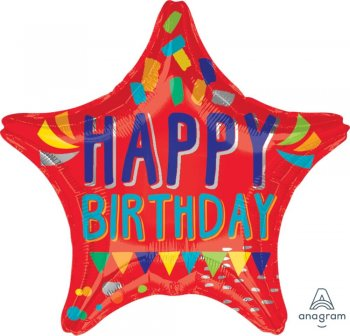 """Happy Words Birthday Balloons 18"""" S40-0"""