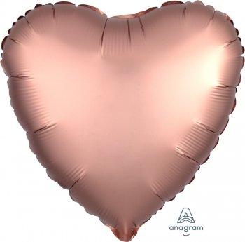 Satin Deluxe Rose Copper Heart S15-0