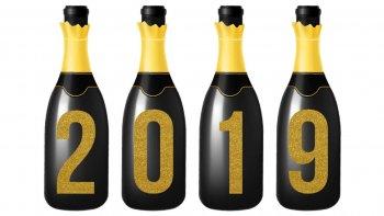 2-0-1-9 New Year Champagne Cutout-0