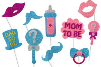 Baby Shower Photo Props - 10PC-0