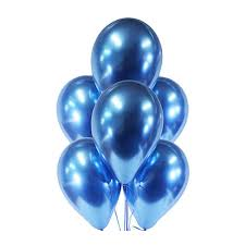 Royal Blue Chrome Balloons - 10PC-0