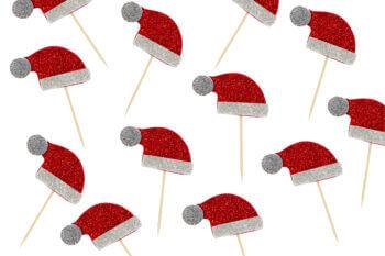 Christmas Santa Hat Toothpicks - 10PC-0