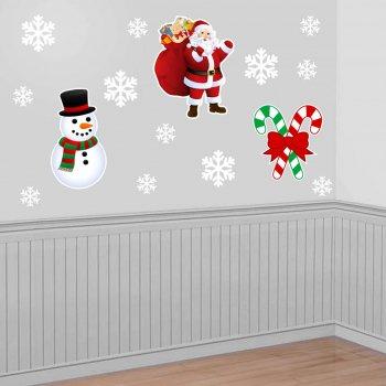 Christmas Santa - Snowman - Joystick Paper Cutout - 3PC SET-0