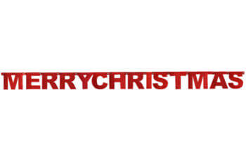 Merry Christmas Red Glitter Banner - Over 7FT-0