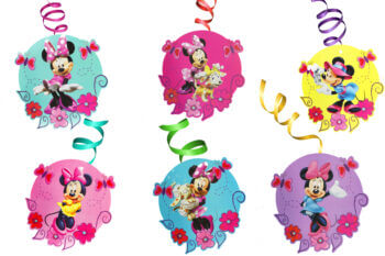 Minnie Mouse Swirl Decoration - 12PC-0