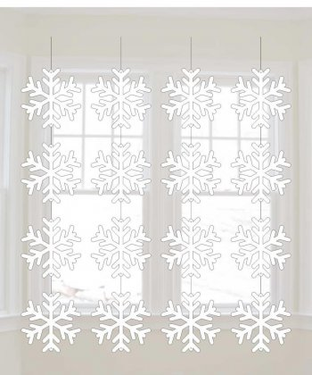 Snow Flakes String Decoration - 6PC-0