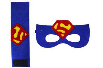 Superman Eye Mask & Wrist Band Set-0