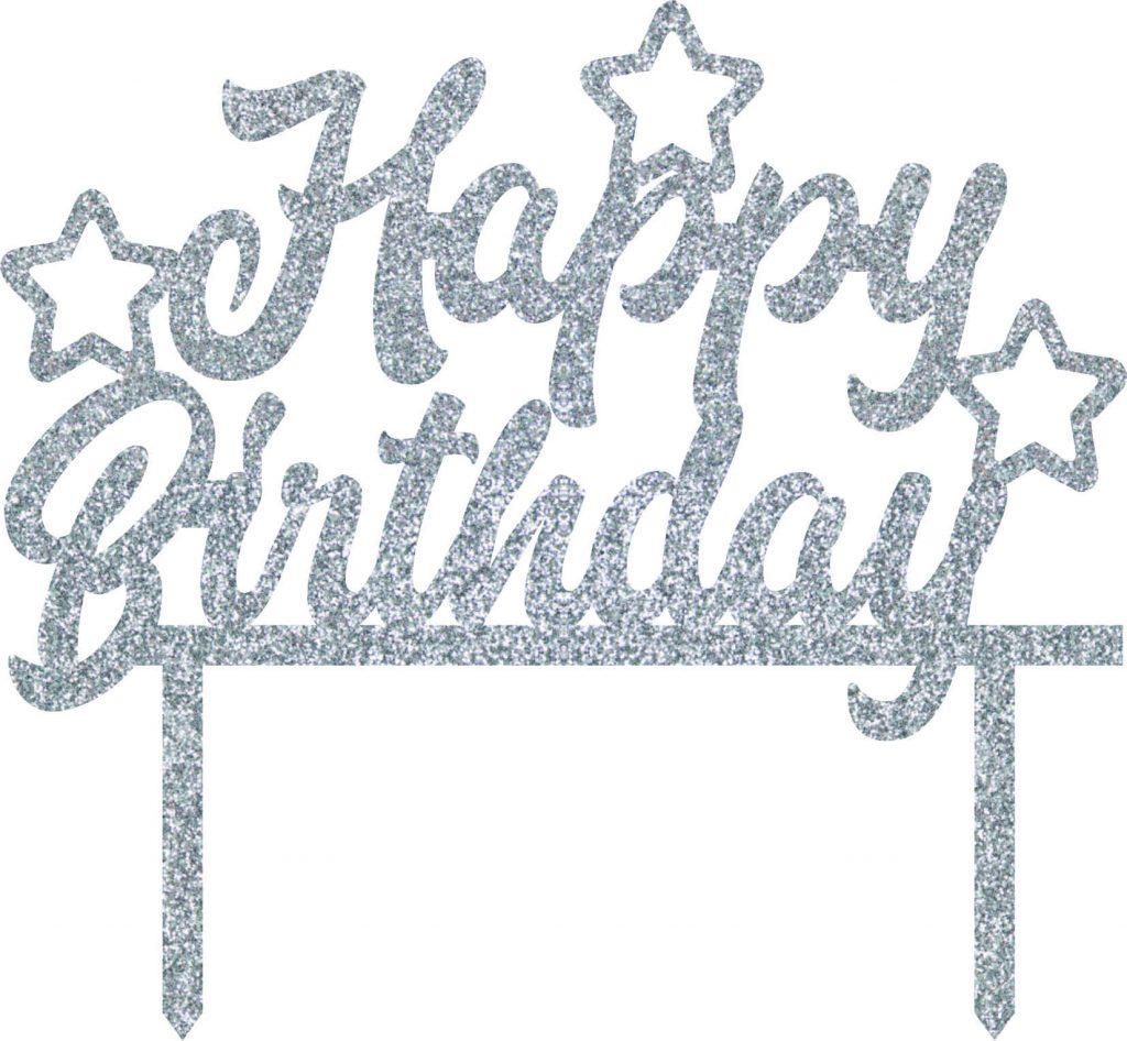 2 x Silver 90th Birthday Candle