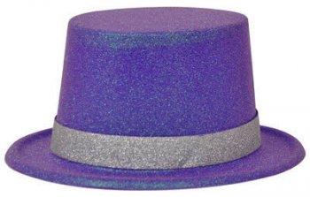Neon Purple Glitter Hat_702535