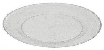 Premium Plastic Glittering Silver Plates - 10PC_702488A