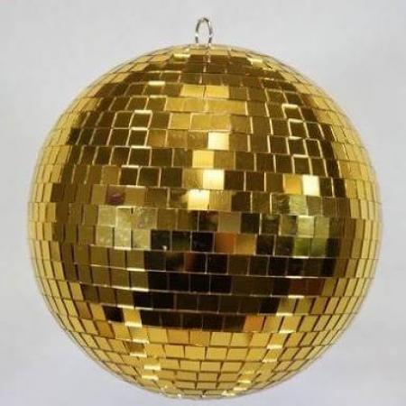 """16"""" Mirror Disco Ball Golden-0"""
