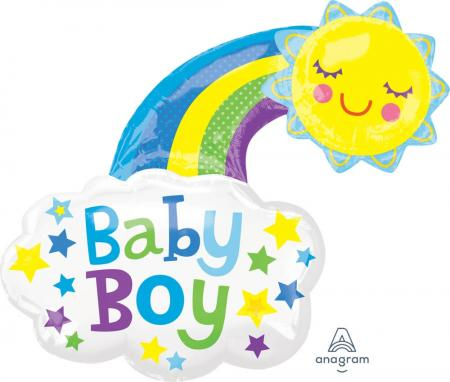 "Baby Boy Bright Sun Balloons 30"" P35-1PC-0"