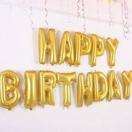 HAPPY BIRTHDAY Balloons Banner - 1 Set-0