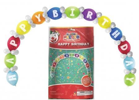 Happy Birthday Linking Balloons DIY Kit - 65PC-0