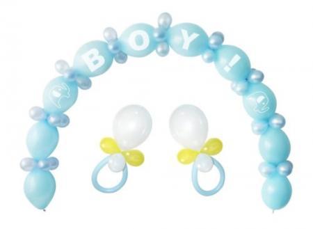 Baby Boy Linking Balloons DIY Kit - 64PC-0