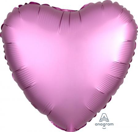 "18"" Matte Flamingo Pink Heart Balloons S15-0"