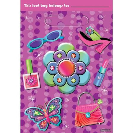 Loot Bags Glitzy Girl - 8ct-0