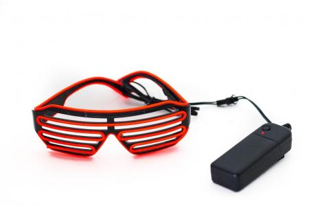 EL Wire LED Shutter Red Shades-0