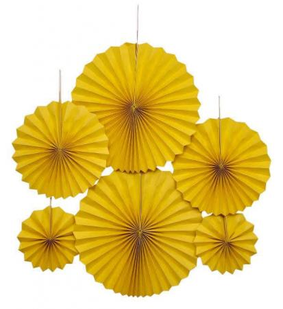Yellow Paper Fans_701886