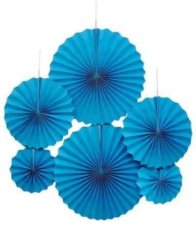 Blue Paper Fans_701889