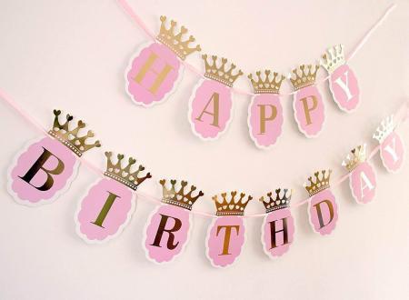 Happy Birthday Princess Crown Banner-0