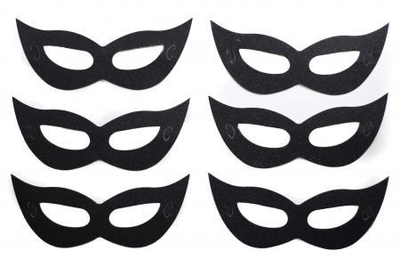 Eye Mask Paper Black - 6PC-0