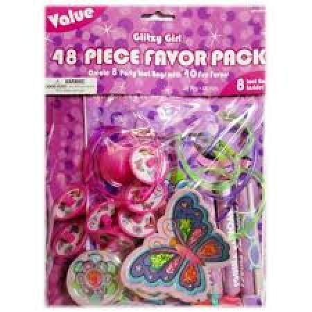 FAVOR PACK 48 PIECE GLITZY GIRL-0