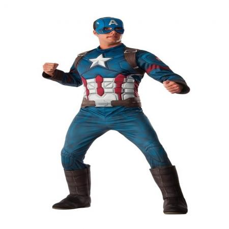 Captain America Deluxe Muscle Chest Costume-0