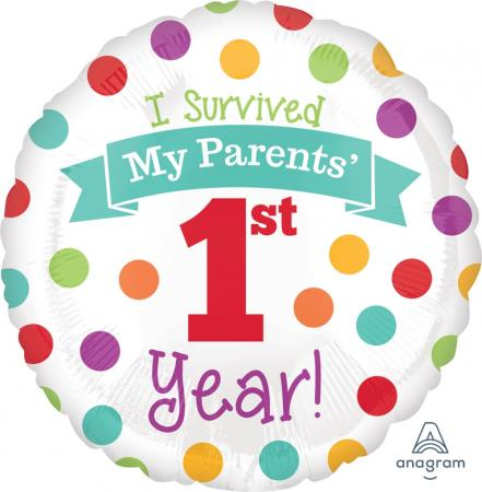 "Baby's 1st Year Birthday Balloons 18"" S40-0"