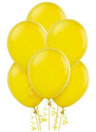 "12"" Yellow Latex Balloons - 10CT-0"