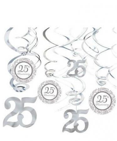 25th Anniversary Swirl Decoration - 12CT-0