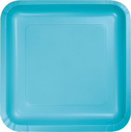 Bermuda Blue Square Paper Plates 9- 8PC-463552