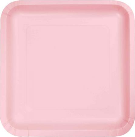 Calssic Pink Square Paper Plates 9 - 8PC463274